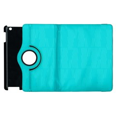 Line Blue Apple Ipad 3/4 Flip 360 Case by Mariart