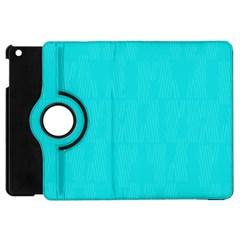 Line Blue Apple Ipad Mini Flip 360 Case