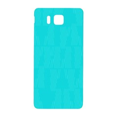 Line Blue Samsung Galaxy Alpha Hardshell Back Case by Mariart