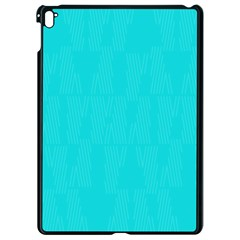 Line Blue Apple Ipad Pro 9 7   Black Seamless Case by Mariart