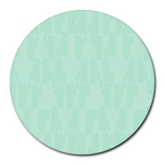 Line Blue Chevron Round Mousepads by Mariart