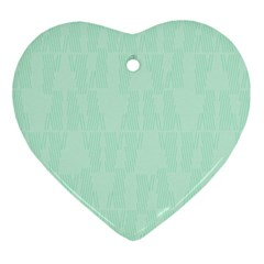 Line Blue Chevron Ornament (heart) by Mariart