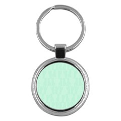Line Blue Chevron Key Chains (round)  by Mariart