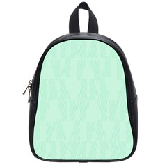Line Blue Chevron School Bag (small) by Mariart