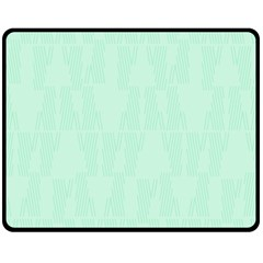 Line Blue Chevron Fleece Blanket (medium)  by Mariart