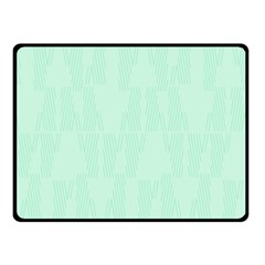 Line Blue Chevron Fleece Blanket (small) by Mariart