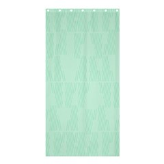 Line Blue Chevron Shower Curtain 36  X 72  (stall)