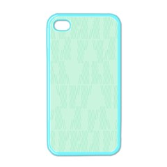 Line Blue Chevron Apple Iphone 4 Case (color) by Mariart