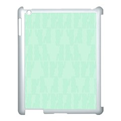 Line Blue Chevron Apple Ipad 3/4 Case (white) by Mariart