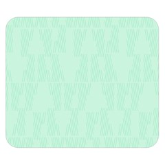 Line Blue Chevron Double Sided Flano Blanket (small)