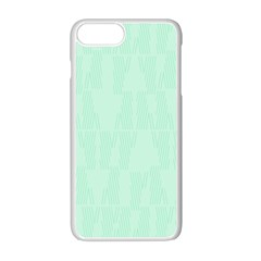 Line Blue Chevron Apple Iphone 7 Plus White Seamless Case by Mariart