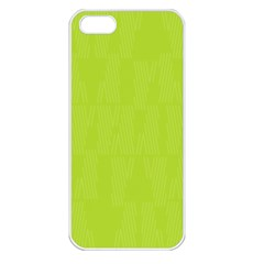 Line Green Apple Iphone 5 Seamless Case (white) by Mariart
