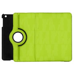 Line Green Apple Ipad Mini Flip 360 Case