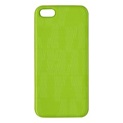 Line Green Iphone 5s/ Se Premium Hardshell Case by Mariart