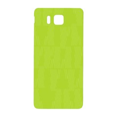 Line Green Samsung Galaxy Alpha Hardshell Back Case by Mariart