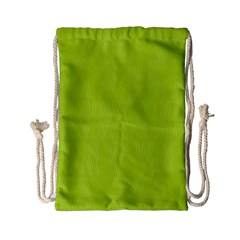 Line Green Drawstring Bag (small) by Mariart