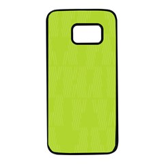 Line Green Samsung Galaxy S7 Black Seamless Case by Mariart