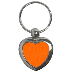 Line Orange Key Chains (heart)  by Mariart