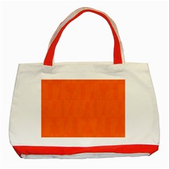 Line Orange Classic Tote Bag (red) by Mariart