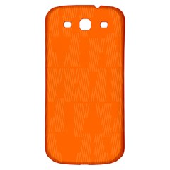 Line Orange Samsung Galaxy S3 S Iii Classic Hardshell Back Case by Mariart