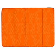 Line Orange Samsung Galaxy Tab 7  P1000 Flip Case by Mariart