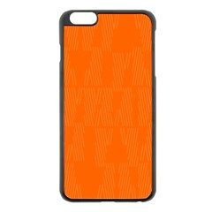 Line Orange Apple Iphone 6 Plus/6s Plus Black Enamel Case by Mariart
