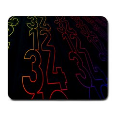 Neon Number Large Mousepads by Mariart