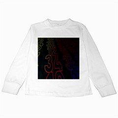 Neon Number Kids Long Sleeve T Shirts by Mariart