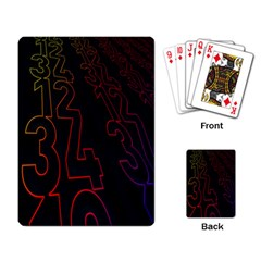 Neon Number Playing Card by Mariart