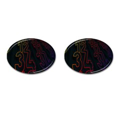 Neon Number Cufflinks (oval) by Mariart