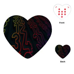 Neon Number Playing Cards (heart)