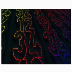 Neon Number Canvas 8  X 10  by Mariart