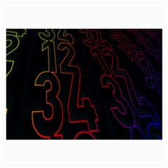 Neon Number Large Glasses Cloth (2-side) by Mariart