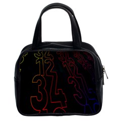 Neon Number Classic Handbags (2 Sides) by Mariart