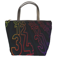 Neon Number Bucket Bags by Mariart