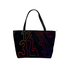Neon Number Shoulder Handbags by Mariart