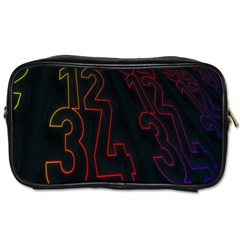Neon Number Toiletries Bags 2 Side by Mariart