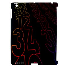 Neon Number Apple Ipad 3/4 Hardshell Case (compatible With Smart Cover) by Mariart