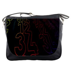 Neon Number Messenger Bags by Mariart