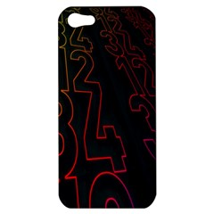 Neon Number Apple Iphone 5 Hardshell Case by Mariart