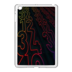 Neon Number Apple Ipad Mini Case (white) by Mariart