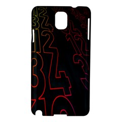 Neon Number Samsung Galaxy Note 3 N9005 Hardshell Case by Mariart