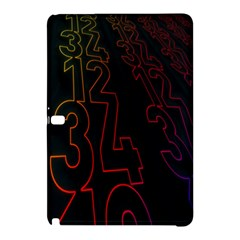 Neon Number Samsung Galaxy Tab Pro 12 2 Hardshell Case by Mariart