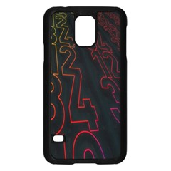 Neon Number Samsung Galaxy S5 Case (black) by Mariart