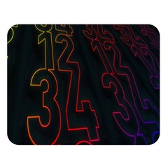Neon Number Double Sided Flano Blanket (large)  by Mariart