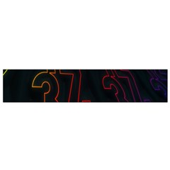 Neon Number Flano Scarf (small) by Mariart