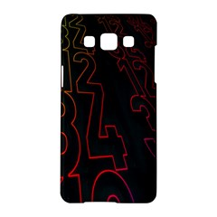 Neon Number Samsung Galaxy A5 Hardshell Case  by Mariart