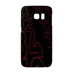 Neon Number Galaxy S6 Edge by Mariart