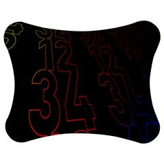 Neon Number Jigsaw Puzzle Photo Stand (bow)
