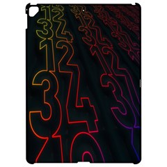 Neon Number Apple Ipad Pro 12 9   Hardshell Case by Mariart